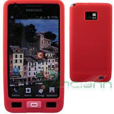 Custodia SKIN in silicone ROSSO per Samsung Galaxy S2 I9100 SII protezione tasti