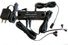 Dual Band IR Infrared Remote Control Hidden Repeater Extender AV Kit 4 Emitters
