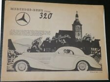 1930s Mercedes Benz 1930s Type 320 Car Sales Brochure Catalog Reprint,illustratd