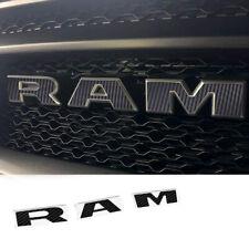 1x OEM RAM Grille Decal Stick Overlay for 2019 RAM 1500 2500 3500 L Carbon Fiber