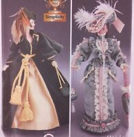 """Simplicity 7213 Gone With the Wind 11.5"""" Doll Dress Pattern Civil War Uncut OOP"""