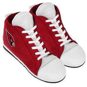 Arizona Cardinals High Top Sneaker SLIPPERS New - FREE U.S.A. SHIPPING