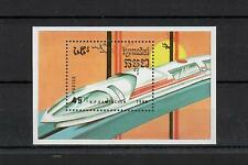 (W1141) CAMBODIA, 1989, TRAINS, BL. 163, MNH/UM, SEE SCAN