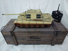 Torro 1/16 RC German Jagdtiger Infrared IR Tank Desert 2.4GHz with Wooden Box