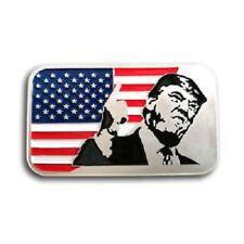 President Trump with USA Flag, 1 Troy oz .999 Fine silver Bullion bar. NEW!