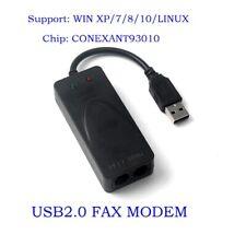 2 Dual RJ11 Ports USB 56K External Dial Up Voice Fax Data Modem for Windows 7 8
