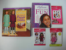 American Girl REBECCA JUST FOR FUN and PLAY SCENES & PAPERDOLLS & Stickers NEW