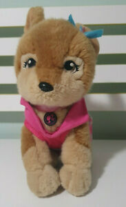 BARBIE DOG PLUSH TOY DOG! HAS STYLISH OUTFIT AND A BOW! 27CM TALL LACEY!