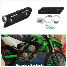 190mm Carbon Fiber Style Motorcycle ATVs Mid Exhaust Heat Shield Protector Guard