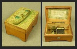 THORENS SWISS MUSICAL BOX c.1908 - 2 Airs, 28 Notes - Made in Switzerland