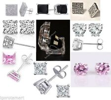 Silver Plated CZ Earrings & Studs for Men