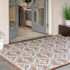 Terra Geometric Rugs Indoor Outdoor Flatweave Garden Patio Summer Mat Durable UK