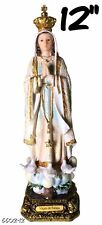 Our Lady of Fatima Statue Catolic Virgin Santa Fatima Statua New (12 Inch)