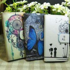 Butterfly Dandelion Dream Catcher Wallet Kickstand flip case cover for Samsung