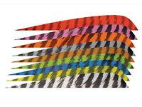 "Gateway Archery 4"" Parabolic Feather Arrow Fletching Vanes Wooden Aluminium"