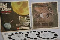 Gaf View-Master Apollo Moon Landing July 20th, 1969 10:56 B 663 (3 Reels & Book)