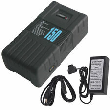POWER-U 14.8V 10.2Ah V-Mount Li-ion BP-150S 150Wh Battery for Sony W/Charger