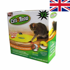V3 CAT'S MEOW UNDERCOVER YELLOW SKIRT MOTORISED MOVING MOUSE WAND TOY / BOXED #
