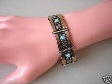 Armband aus 925 Sterling Silber vergoldet Opal Dublette 37,0 g/Länge:17 cm