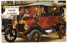 ONE OLD CROCK TO ANOTHER -  Early Motor Car / Automobile - c1960s era postcard