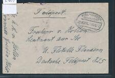 29ß39) Bahnpost Ovalstempel Kiel - Lübeck Z.678, FP-Brief 1917 > U-Flottille