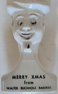 """Vtg advertising Walter Buchholz Bakeries Scoop Plastic Flour Sugar Buffalo NY 7"""""""