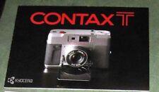CONTAX T 35mm CAMERA BROCHURE -CONTAX T-CARL ZEISS SONNAR LENS