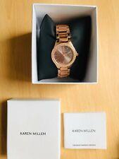 Karen Millen Womens Ladies Gold ROSE Tone Embellished Analogue Watch - RRP £85