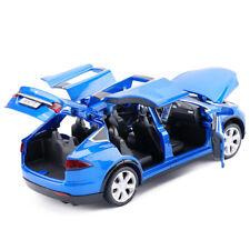 1:32 Tesla Model X 90D SUV Diecast Model Car Sound&Light Pull Back Toy Blue