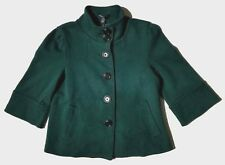 Banana Republic Green Cotton 3/4 Sleeve Lined Cropped Jacket Blazer Size PS $89