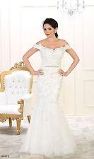 WEDDING DESTINATION MERMAID FORMAL GOWN BRIDAL RECEPTION OFF THE SHOULDER DRESS