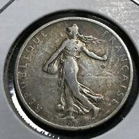 1905 FRANCE SILVER 2 FRANCS NICE  COIN