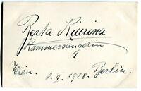 BERTA KIURINA - orig. Autogramm - 1928 - autograph, signed