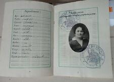 1930 PASSEPORT Consulat général de France à veracruz mexique