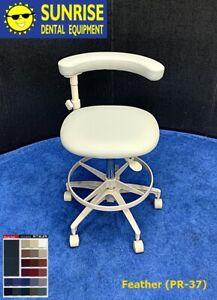 ADEC 1626 Dental Assistant Stool w/ Contoured Seat Base - Color Choice Upholst.