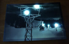 Lighted Snow Ski Lift Skiing Lodge Skier Cabin Canvas Sign Home Light Decor NEW