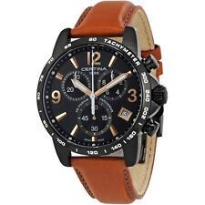Reloj de Cuarzo Certina Podium Ds Para hombre 41MM Banda De Cuero C034.417.36.057.00