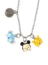 Disney Tsum Tsum Mini Charm Lilo & Stitch Mickey Mouse Pooh Pendant Necklace NEW
