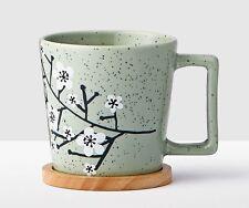 NEW Starbucks 2017 CHERRY BLOSSOMS  Mug with Wooden Coaster -12 fl oz
