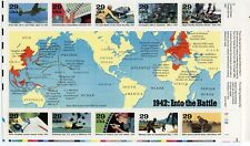 """1991 - """"1942: Into the Battle"""" - Sheet of 10-29 cent Stamps - All Mint State/MNH"""