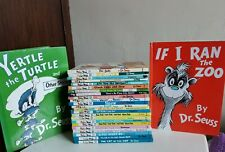 Dr. SEUSS Lot 25 Hardcover Books Yertle the Turtle, Cat in the Hat