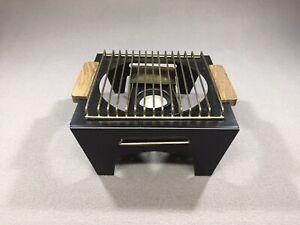 Vintage Retro Japan Metal Wood Handles Candle Warmer Built In Snuffer MCM