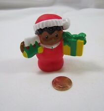 Fisher Price Little People HOLIDAY CHRISTMAS MICHAEL BOY in Red w/ STOCKING Rare