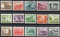 Hungary 1951-1953 Buildings A Joblot collection of fine USED Stamps