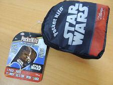 "Pocketkite Star Wars CHEWBACCA Frameless Kite 21"" Wide Nylon in Carrying Pouch."