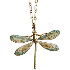 CATHERINE POPESCO La Vie Parisienne Paris DRAGONFLY ENAMEL Necklace RARE!