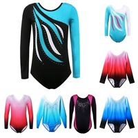 Girls Gymnastics Childrens Sports Leotard Costume Age 4 6 8 9 10 11 12 13 14 Yrs