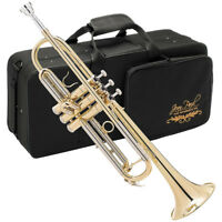 Jean Paul Trumpet for Beginners, Key of Bb, Yellow Brass Body w/ Lacquer Finish