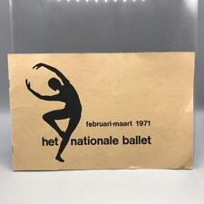 Vintage Netherlands National Ballet Program 1971