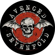 Avenged Sevenfold round  sew-on cloth back patch   (rz)